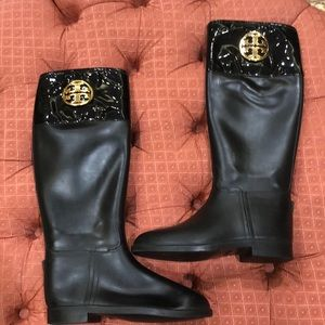 Authentic Tory Burch rain boots